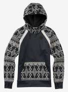Толстовка BURTON WB HERON PULLOVER True Black Heather / Black Mojave